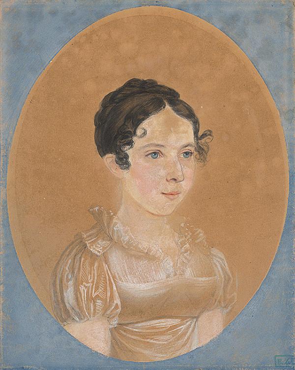 Stredoeurópsky majster z 1. polovice 19. storočia – Portrét mladej ženy