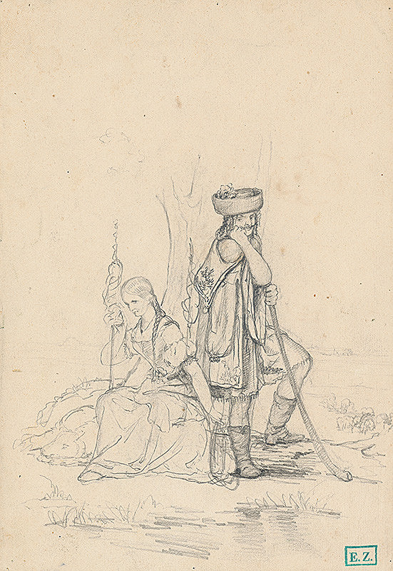 Vojtech Klimkovič – Pastier so ženou
