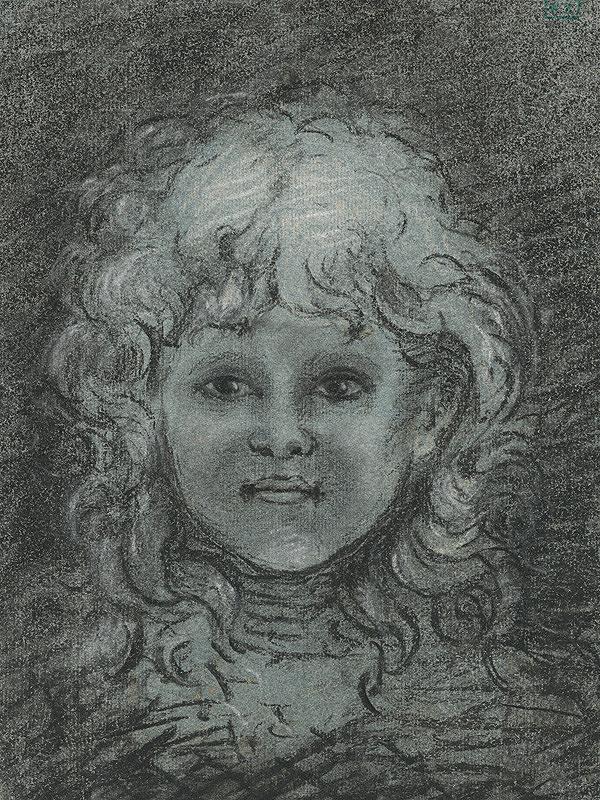 Stredoeurópsky majster z 1. polovice 20. storočia - Portrét dievčaťa