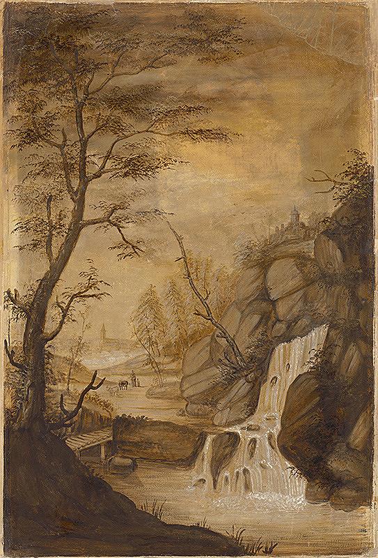 Stredoeurópsky majster z 18. storočia - Krajina s vodopádom