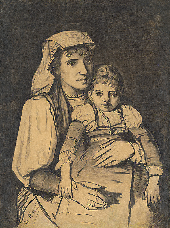 Monogramista M W – Matka s dieťaťom