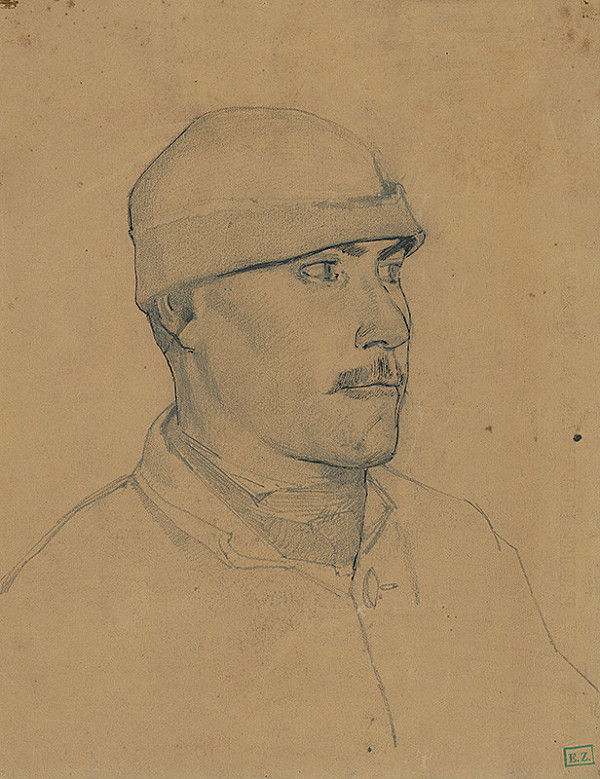 Ladislav Mednyánszky – Portrét mladého muža