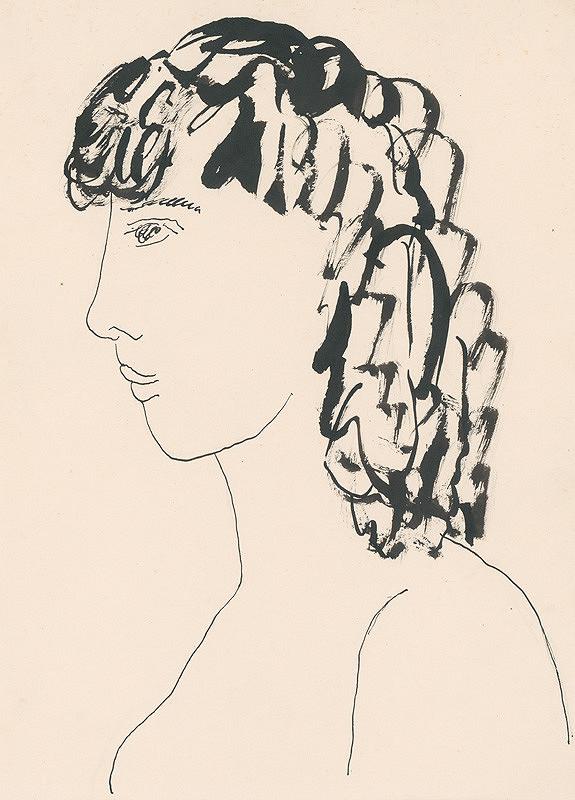 Lajos Kassák – Hlava dievčaťa