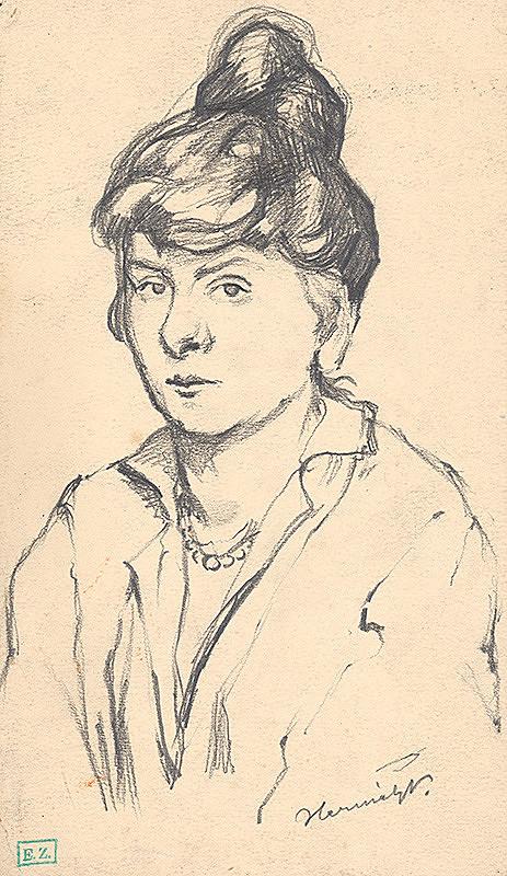 Viktor Hermély – Portrét mladej ženy