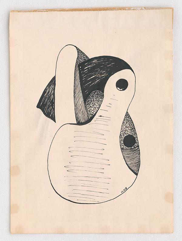 Lajos Kassák – Kresba tušom