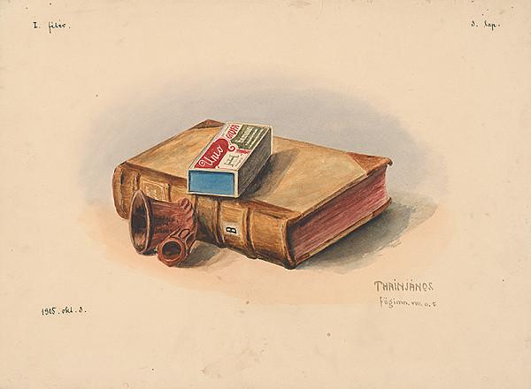 Ján Thain - Zátišie s knihou