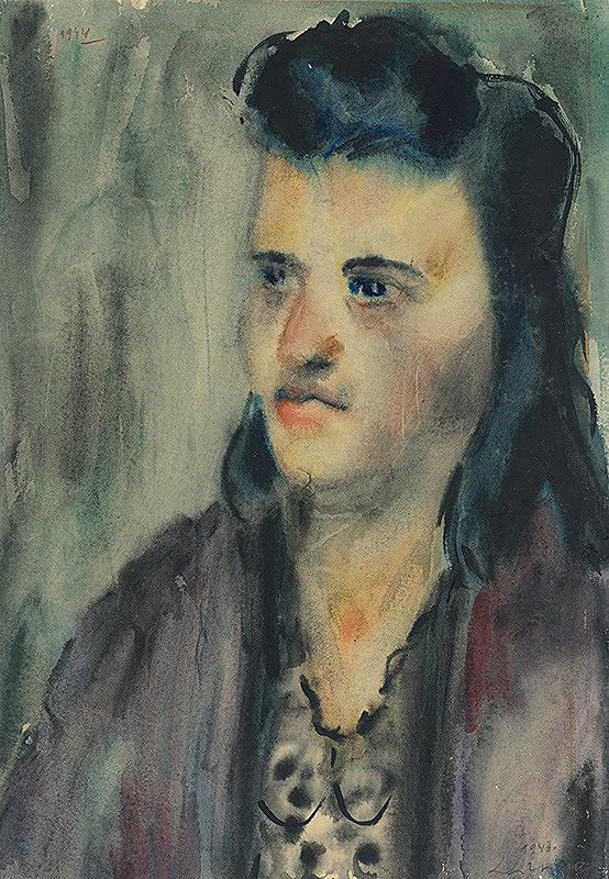 Lajos Luzsicza - Portrét dievčaťa