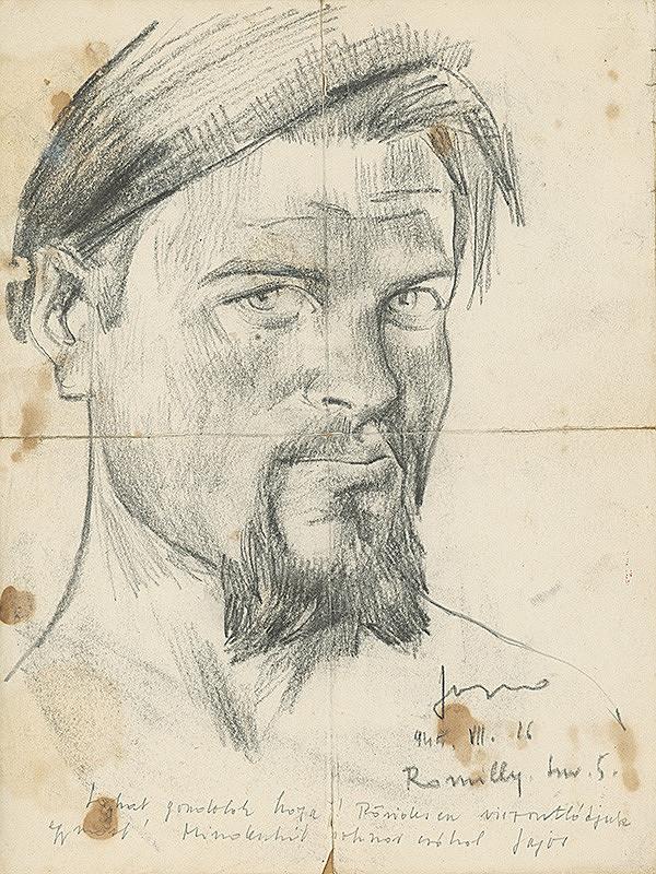Lajos Luzsicza - Autoportrét zo zajateckého tábora II.