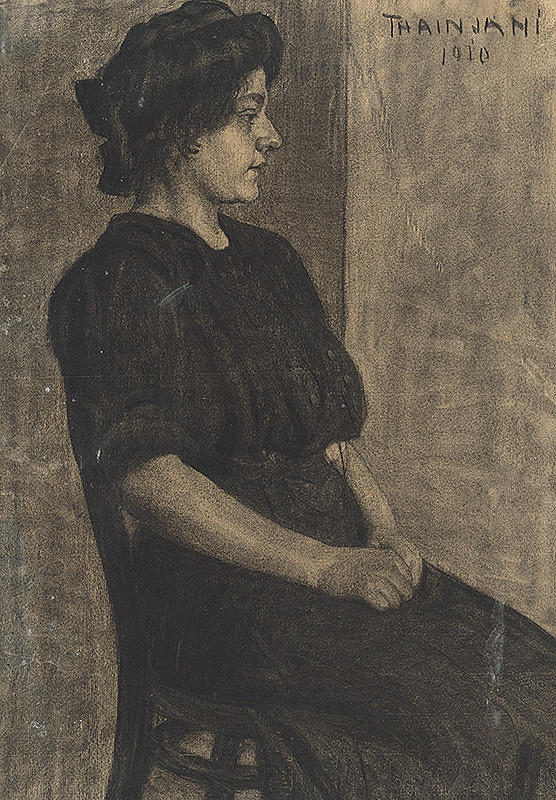 Ján Thain – Portrét sediacej ženy
