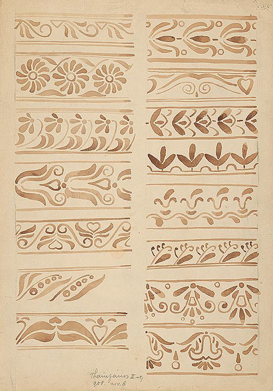 Ján Thain – Štúdia ornamentov