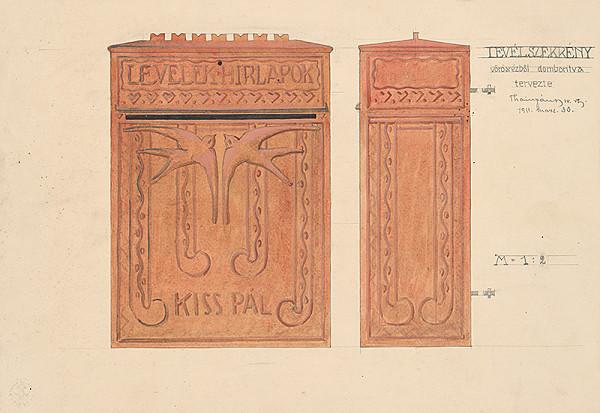 Ján Thain – Návrh na korešpondenčnú skrinku