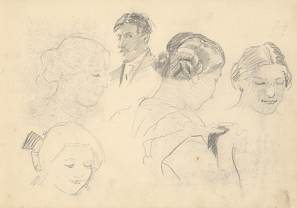 Ján Thain – Skicár z roku 1914 - strana zo skicára