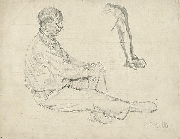 Teodor Tekel – Štúdia sediaceho muža