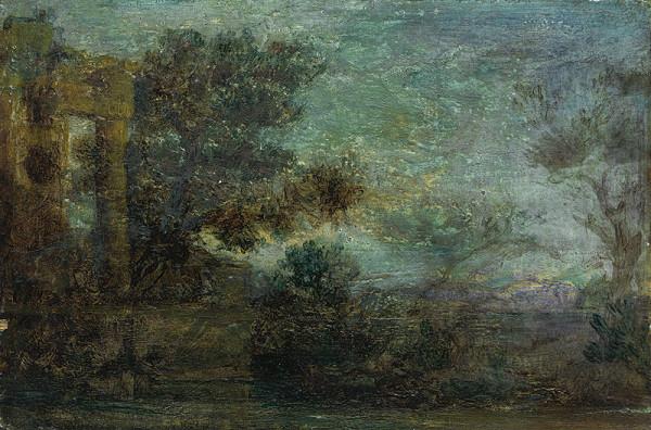 Neznámy maliar – Krajina s ruinou