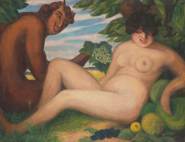 Stredoeurópsky majster, Anton Jasusch - Žena so satyrom