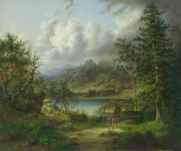 Neznámy maliar, Károly Telepy - Krajina so zrúcaninou hradu