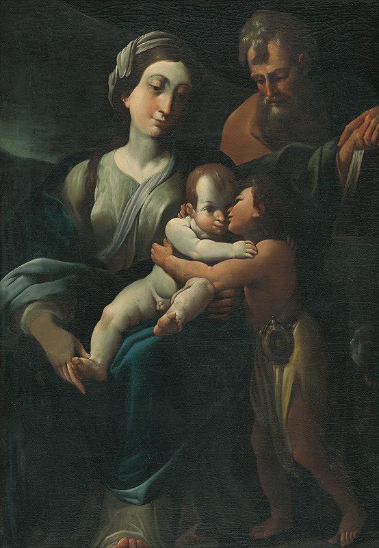 Neznámy maliar - Svätá rodina so svätým Jánom Krstiteľom