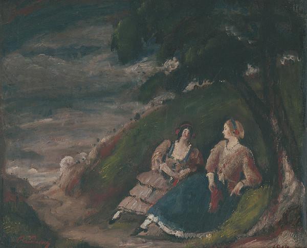 Július Rudnay - Dve slečny pod stromom