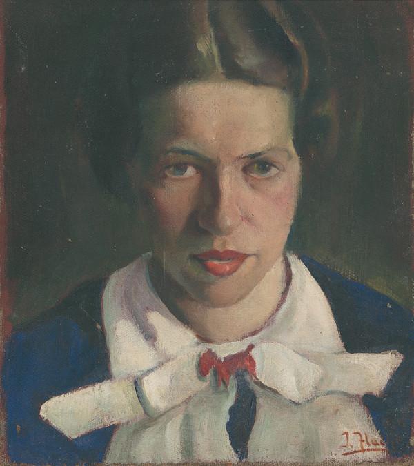 Július Flache - Portrét mladej ženy