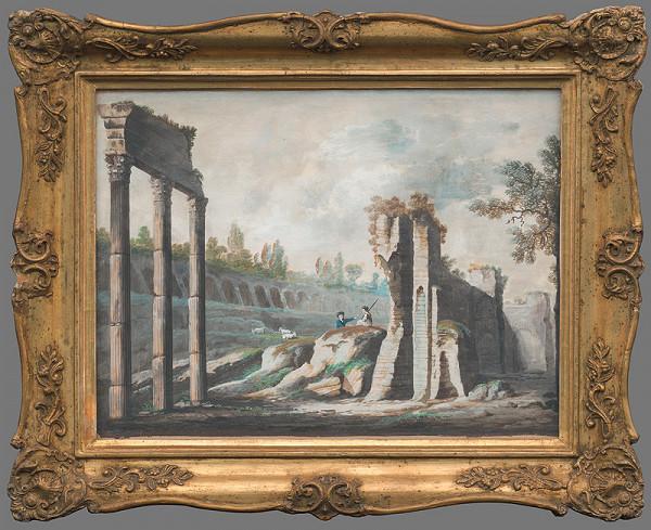 Ján Jakub Müller – Krajina s antickými ruinami