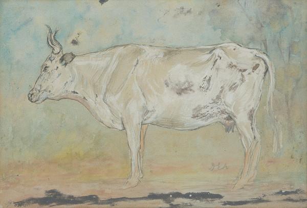 Lajos Deák-Ébner - Biela krava