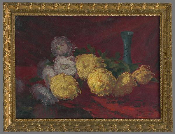 Ľudovít Čordák – Chryzantémy na stole