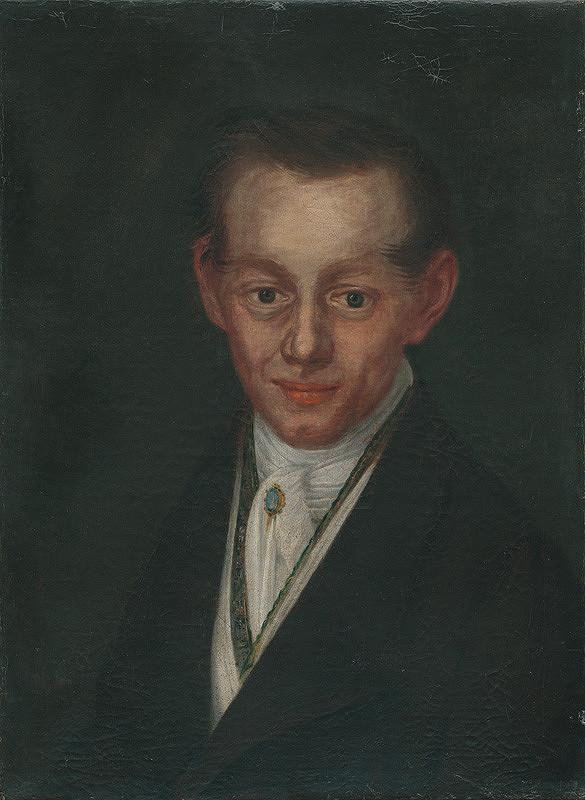 Srbský maliar - Portrét mladého muža