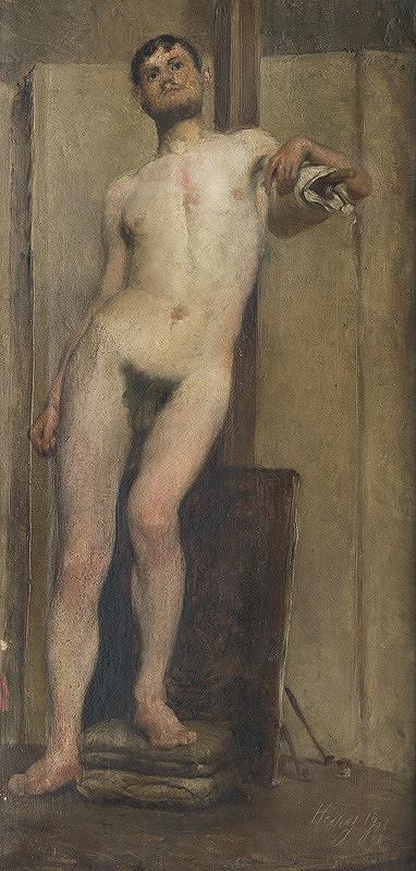 Gyula Háry - Štúdia mužského aktu