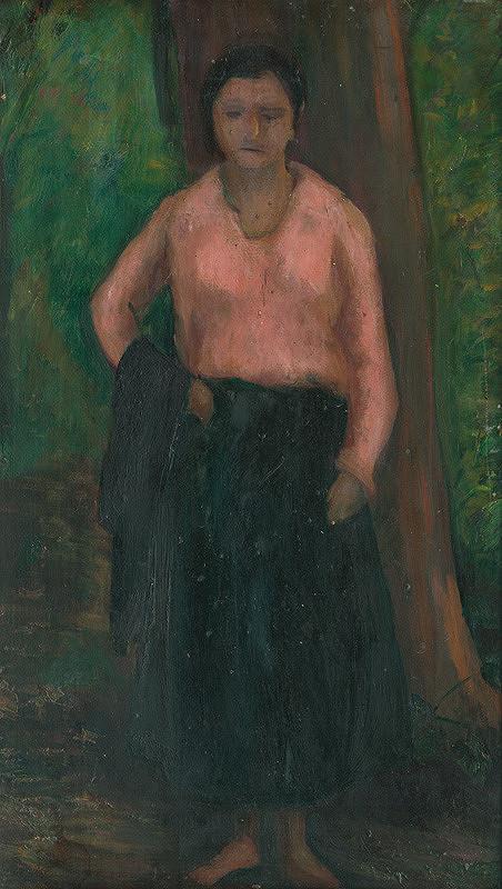 Viktor Belányi - Stojaca žena v plenéri