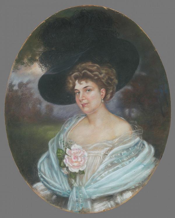 Neznámy autor - Žena s ružou