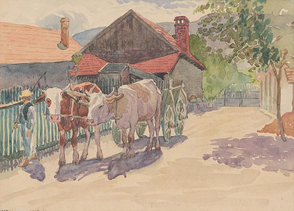 Ján Thain - Dedina s kravami