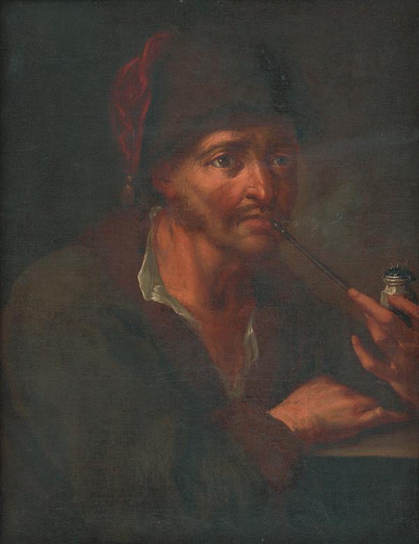 Rakúsky maliar z 1. polovice 18. storočia - Muž s fajkou
