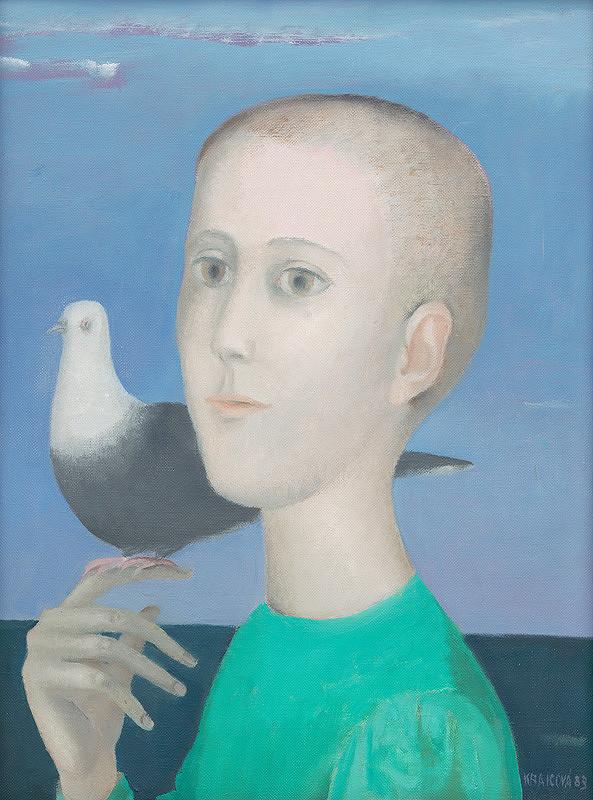 Viera Kraicová - Chlapec s holubicou