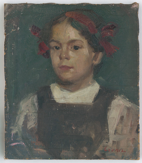 János Czencz - Portrét dievčaťa