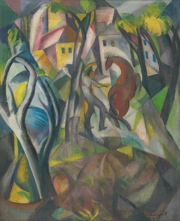 Armand Schönberger – Muž s koňom v krajine