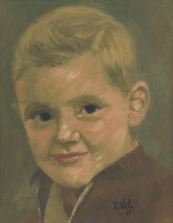 Jan Hála - Portrét chlapca