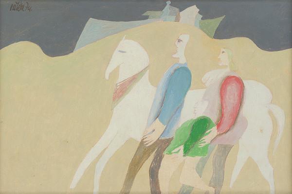 Milan Paštéka - Rodina s koňom