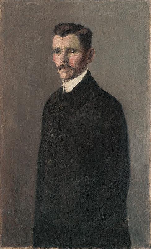 Konštantín Kövári-Kačmarik – Portrét muža v čiernom