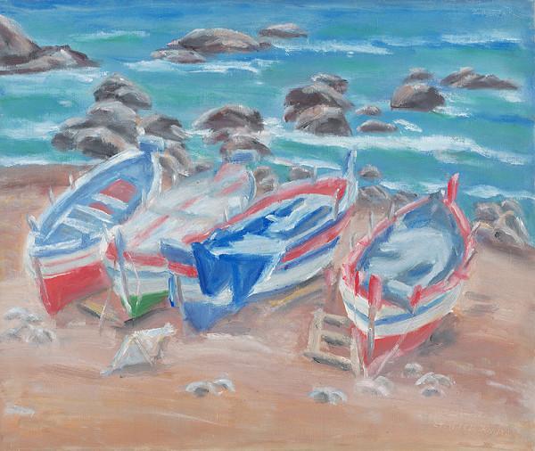 Ernest Zmeták – Člnky pri mori