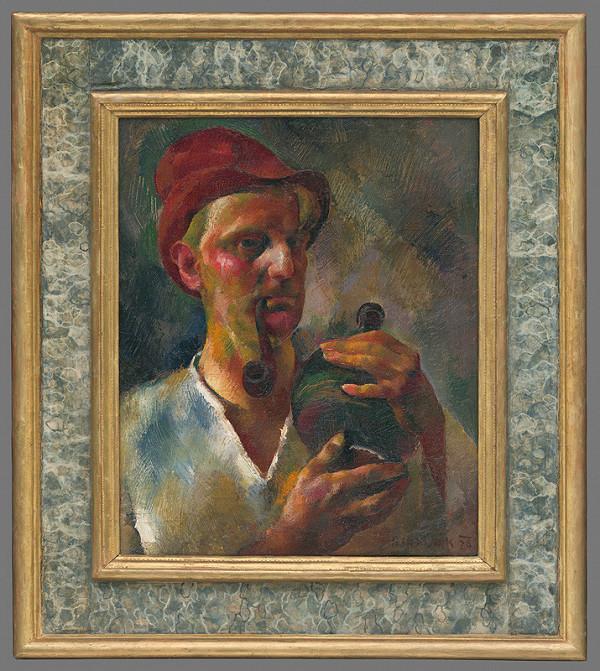 Vilmos Aba-Novák - Autoportrét