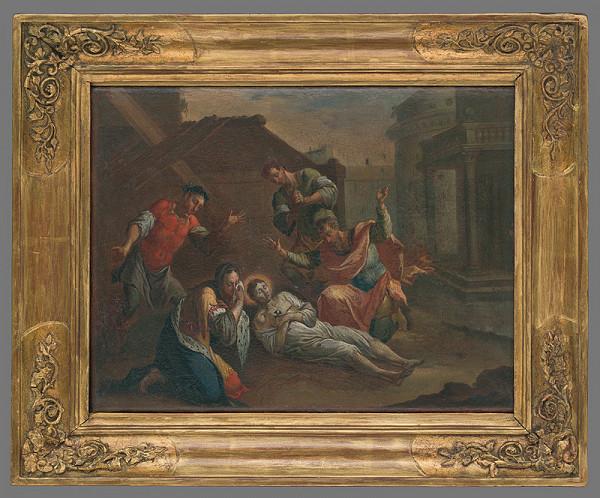 Rakúsky maliar z 18. storočia – Smrť sv. Alexia z Edessy