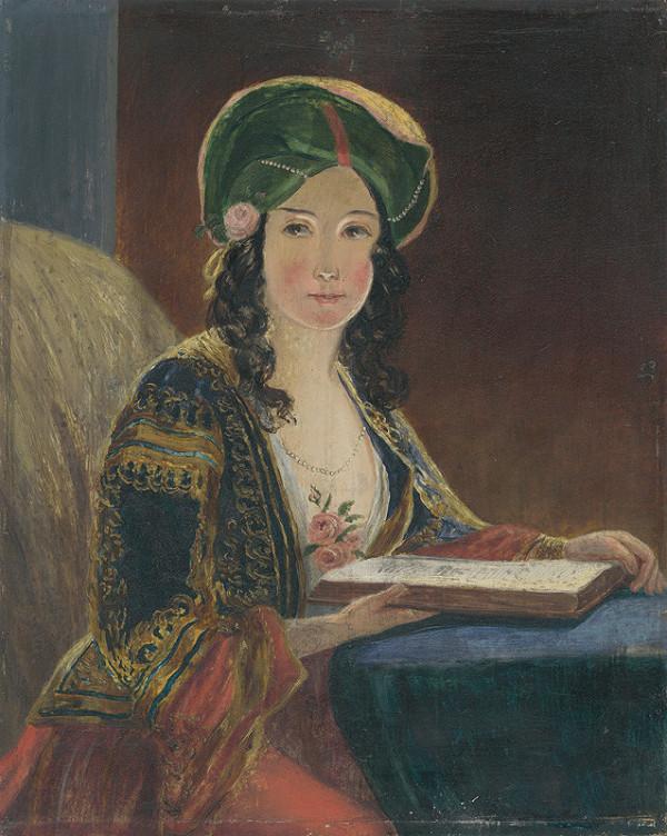 Neznámy maliar, Friedrich von Amerling - Mladá žena v orientálnom kroji (Die Morgenländerin - kópia)