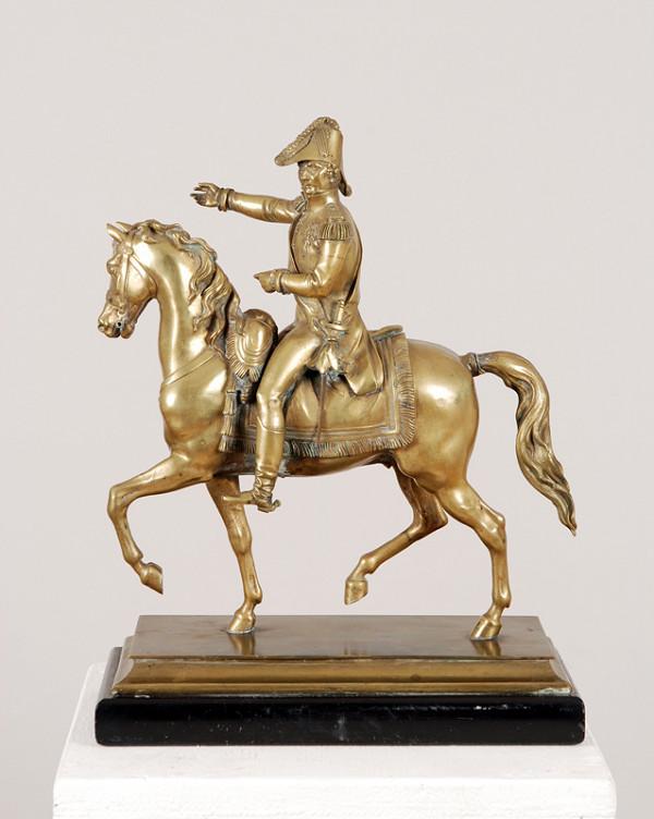 Francúzsky sochár z 1. polovice 19. storočia – Jazdec na koni