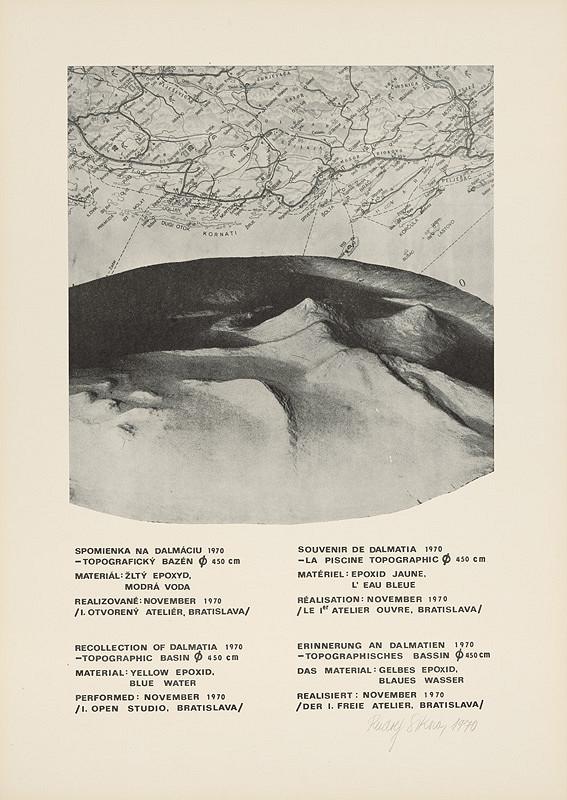 Rudolf Sikora - Spomienka na Dalmáciu - topografický bazén 450 cm