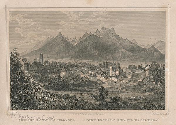 Nemecký rytec z konca 19. storočia - Pohľad na Tatry