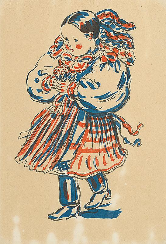 Jan Hála – Dievčatko v kroji