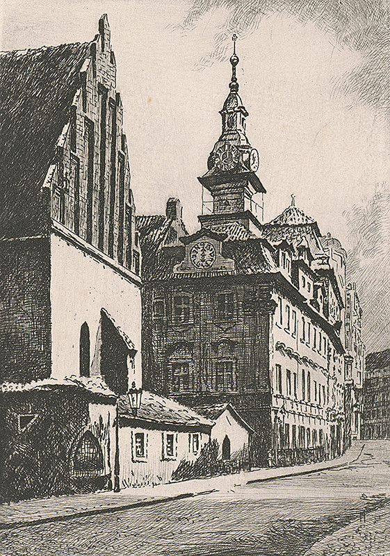 Rakúsky grafik z 19. storočia – Radnica