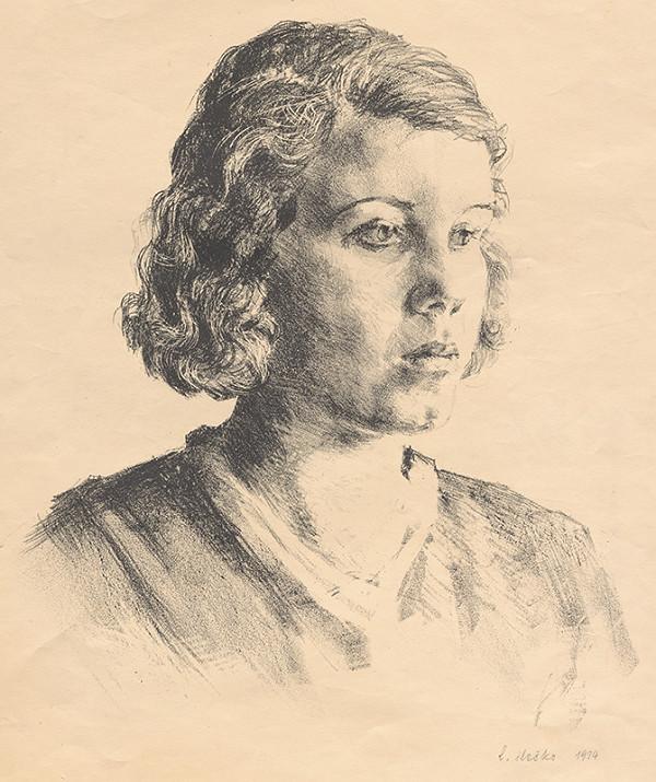 Ľudovít Ilečko - Mladá žena