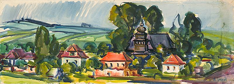 Antonín Smažil – Palúdza, 1971, Liptovská galéria Petra Michala Bohúňa