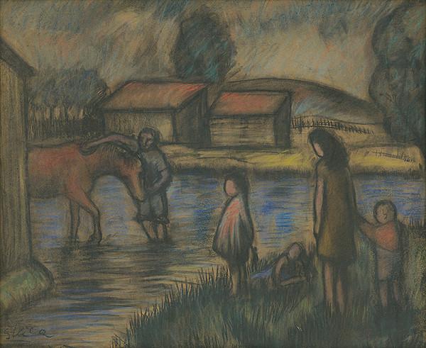 Ernest Špitz – Napájanie koňa